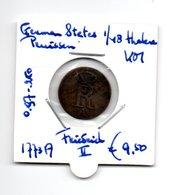 GERMAN STATES PRUISSEN 1/48 THALER 1773A  ZILVER  FRIEDRICH II - [ 1] …-1871 : Etats Allemands