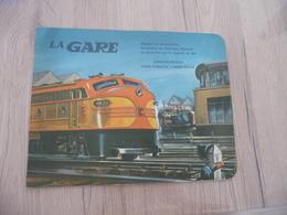 La Gare Construction Sans Ciseau Sans Colle Découpage Trains - Chemin De Fer