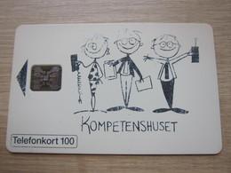 100 Markeringar Chip Phonecard,Kompetenshuset, 4000 Pieces,used With Scratch - Zweden