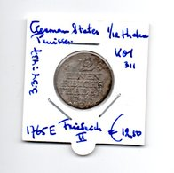 GERMAN STATES PRUISSEN 1/12 THALER 1765E  ZILVER  FRIEDRICH II - [ 1] …-1871 : Duitse Staten