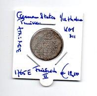 GERMAN STATES PRUISSEN 1/12 THALER 1765E  ZILVER  FRIEDRICH II - [ 1] …-1871 : Etats Allemands