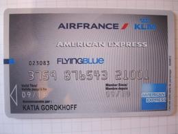 "Télécarte Air France American Express  Frequence Plus ""point Mile"" - Carte Di Credito (scadenza Min. 10 Anni)"