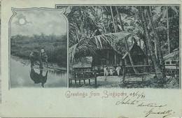 OLD POSTCARD  GREETING FROM SINGAPORE - VIAGGIATA 23 DICEMBRE 1899 - P14 - Singapur
