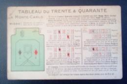 Carte Postale Ancienne - Tableau Du Trente Et Quarante - Jeu De Cartes - Playing Cards