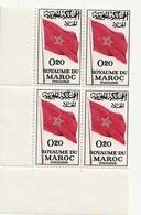 Maroc. Coin De 4 Timbres. Yvert Et Tellier N° 470. Évacuation Des Forces étrangères. 1963 - Marokko (1956-...)