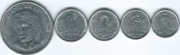 Brazil - Cruzado Novo - 1989 - 1, 5, 10 & 50 Centavos; 1 Cruzado Novo (KMs 611-615) - Brasile