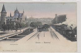 Zürich - Alter HB Mit Dampfzügen - Ansicht Der Landesmuseumseite       (P-247-00201) - ZH Zurich