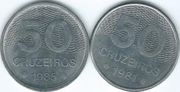 Brazil - Cruzeiro Novo - 50 Cruzeiros - 1981 (KM594.1) & 1985 (KM594.2) - Brasile