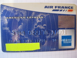 """Télécarte American Express Air France """"point Mile"""" - Credit Cards (Exp. Date Min. 10 Years)"""