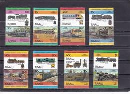 TUVALU - N° 228/243  (1984) Locomotives / Railways MNH** - Treni