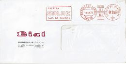 BIAL , SALAX SAIS DE FRUTOS , Pharmaceutical Chemistry ,  Mechanical Postmark EMA  1972 , Marquês De Pombal  Lisboa - Advertising