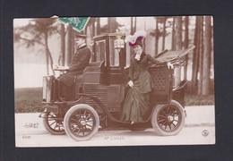 Vente Immediate Artiste Mme Sorel ( Descendant Automobile Taxi Chauffeur Femme élégante Paul Boyer   41857 ) - Artisti
