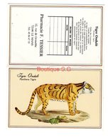 Calendrier De Poche 1991 Tigre Ondule Panthera Tigris Animaux Pharmacie F Tessier Le Mans - Small : 1991-00