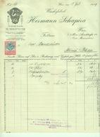 """Österreich Wien 1929 Rechnung Deko Ganzsache Eingedruckte Fiskalmarke """" H.SCHAPIRA Wäschefabrik"""" - Austria"""