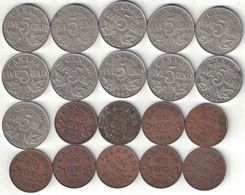 Canada Collection Of 20x 1 & 5 Cent Coins 1920-1936 All Listed & Different - Canada