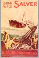 Publicité  Collée Sur Carton HUILE DE FOIE DE MORUE SALVER  (M0162) - Advertising