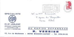 VAL DE MARNE 94 -  MAISONS ALFORT  -LES TIMBRES POSTE UN ACCES A LA CONNAISSANCE UNE COLLECTION PASSIONNANTE   -  1985 - Maschinenstempel (Werbestempel)