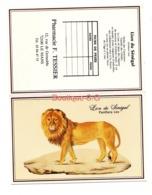 Calendrier De Poche 1991 Lion Du Senegal Panthera Leo Animaux Pharmacie F Tessier Le Mans - Small : 1991-00