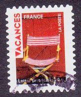 316 France 2009 Oblitéré Autoadhésif  Timbres Pour Vacances Fauteuil En Toile - Adhésifs (autocollants)