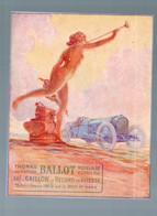 Publicité  Collée Sur Carton VOITURE BALLOT  (M0163) - Advertising