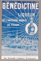 Publicité  Collée Sur Carton BENEDICTINE LIQUEUR   (M0164) - Advertising