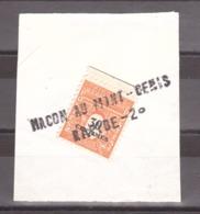 """Griffe Linéaire """"Mâcon Au Mont-Cénis - Rapide - 2°"""" Sur Fragment Avec Tp N° 702 (1945) - Marcophilie (Timbres Détachés)"""