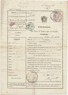 1873 CASTELLAMMARE DI STABIA PERMESSO DI CACCIA E PORTO D'ARMI PER UN POSSIDENTE - Vecchi Documenti