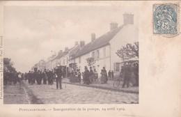 PONCHARTRAIN  D78  INAUGURATION DE LA POMPE 24 AVRIL 1904 - Autres Communes