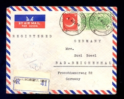 PAKISTAN - Airmail Cover, Sent By Registered And Airmail From Pakistan (Beach Luxury Hotel) To Germany 1958. Nice Franki - Pakistan