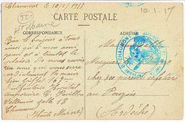 HAUTE MARNE CP 1917 CHAUMONT HOPITAL TEMPORAIRE DE CHAUMONT - Storia Postale