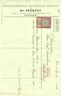 """Österreich Wien 1902 Rechnung  + Stempelmarke Fiskalmarke """" Photographisch - Artistische Anstalt Dr. Szekely """" - Austria"""