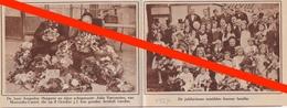 MOERZEKE CASTEL -- AMANDUS HUYGENS JULIE VERHEYDEN  - 1927 -  TIJDSCHRIFTAFBEELDING - Vieux Papiers