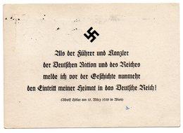 Österreich Volksabstimmung 10. April 1938 Zitat AK Braunau - Allemagne