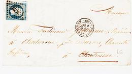 France , De Pimboeuf Bateau à Vapeur , Pc 2221 De Nantes En 1854   TB - 1849-1876: Période Classique