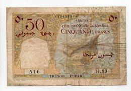 - Billet DJIBOUTI - 50 FRANCS - CÔTE FRANCAISE DES SOMALIS - - Djibouti
