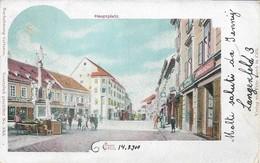 OLD POSTCARD AUSTRIA SLOVENIA - CILLI - HAUPTPLATZ - VIAGGIATA 14 AGOSTO 1900 - P38 - Slowenien