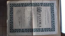 VECCHIO DIPLOMA SCOLASTICO SCUOLA DEL 1947 GOVERNO MILITARE ALLEATO TERRITORIO LIBERO TRIESTE GMA STRAPPO COME DA FOTO - Diploma & School Reports