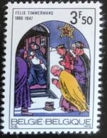 België - Belgique - MNH - Ref B1/14 - 1972 - Michel Nr 1705 - Kerstmis - Belgium