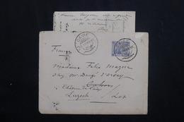EGYPTE - Enveloppe +contenu Du Caire Pour La France En 1889, Affranchissement Plaisant -  L 62052 - Ägypten