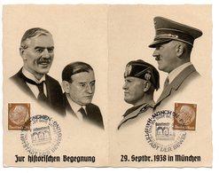 Zur Historischen Begegnung 29.9.1938 In München Doppelkarte - Deutschland