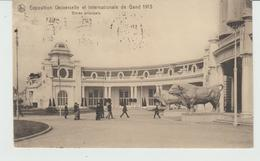 CPA GAND (BELGIQUE) EXPOSITION UNIVERSELLE Et INTERNATIONALE 1913 - ENTREE PRINCIPALE - FLAMME POSTALE - Gent