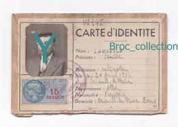 Deneuille-les-Mines, Carte D'identité De Camille Lamarque, 30/04/1894 - 23/05/1980, Cultivateur, Incomplête - Genealogie