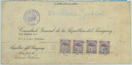 84304 -  PARAGUAY -  POSTAL HISTORY - CONSULAR MAIL To ITALY 1938 - Judaica - Paraguay