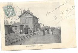 62 CROISILLES ( Pas De Calais ).    La Gare . - France