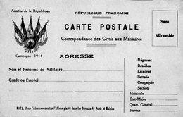 """CP- """"Correspondance Militaire  """"  - 5 Drapeaux - - Storia Postale"""