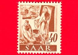 Nuovo - MNH - SARRE - SAAR - 1947 - Viste Di Saarland - Agricoltura - Professioni - Contadini - 40 - Ongebruikt