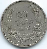 Bulgaria - 1940 - Boris III - 20 Leva - KM47 - Bulgaria