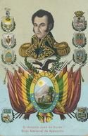 D Antonio José De Sucre  Born In Cumana Venezuela Gran Mariscal De Ayacucho Hand Colored  Edicion Arno. Escudos - Bolivia