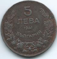 Bulgaria - 1941 - Boris III - 5 Leva - KM39a - Iron Coin - Bulgaria