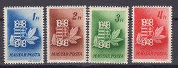 Hongrie 1948 Yvert 890 / 893 ** Neufs Sans Charniere. - Ungarn